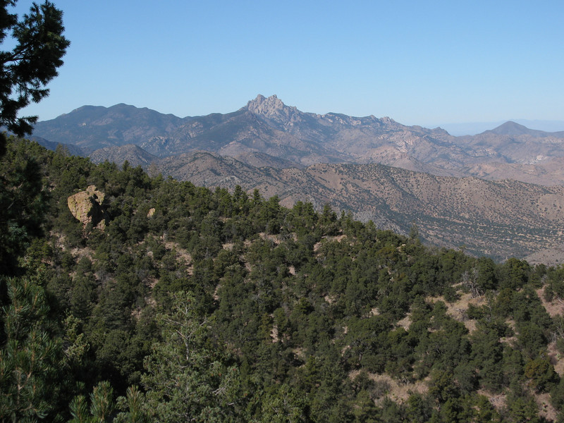 A closer view of Cochise Head from below the summit.