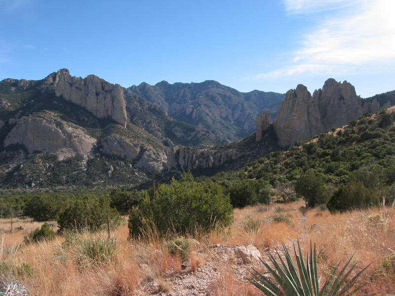Almost back to the trailhead. This area is home to dramatic rock formations such as Cathedral Rock on the left.