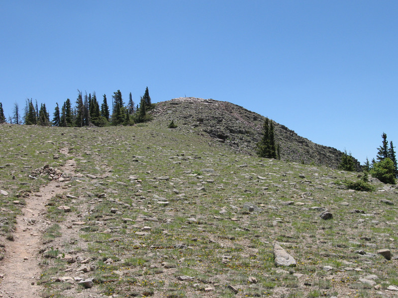 The short trail to Baldy Peak.