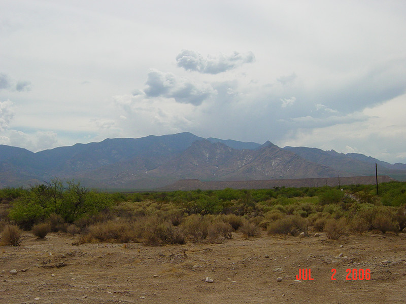 The Pinaleno Mountains from the east along Hwy 191.