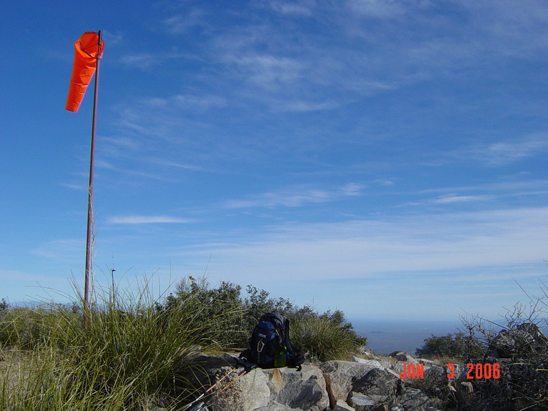 The windsock marks the highpoint.