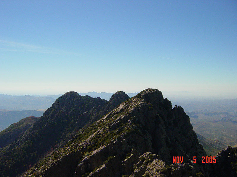 Peaks 2, 3 and 4 to the south with the Superstitions in the background.