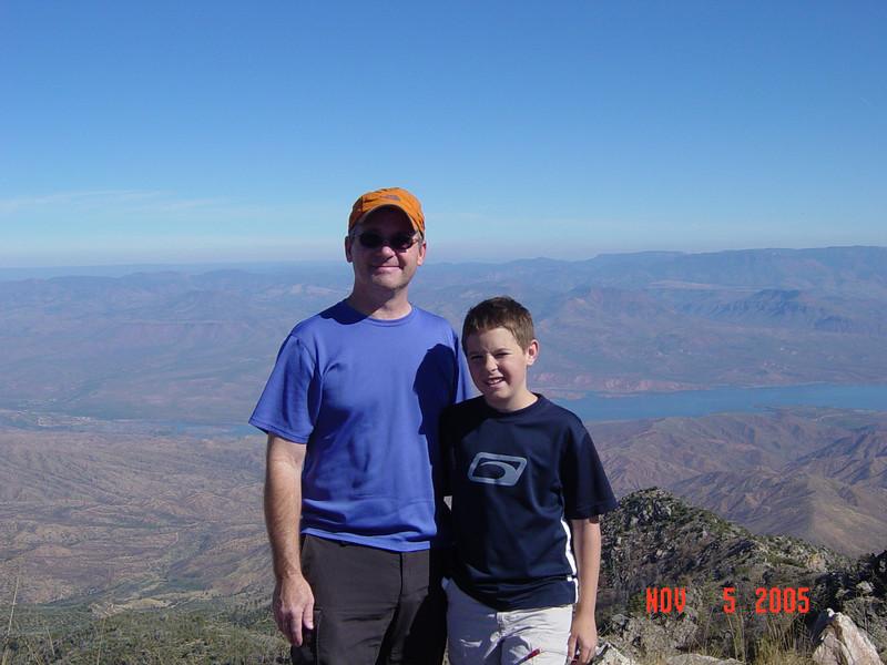 Scott & Fletch on the summit.