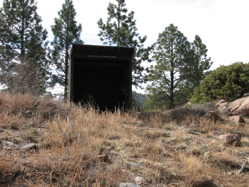 One of several storm shelters along the Potato Patch Loop.