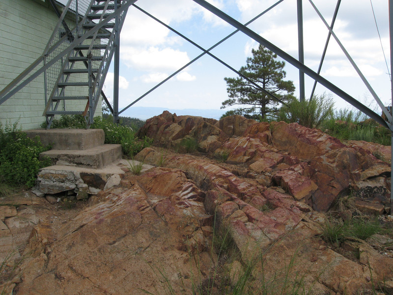 Highest point appears to be right under the lookout.