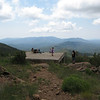 South of the summit is a platform that provides an excellent view of Towers Mtn.