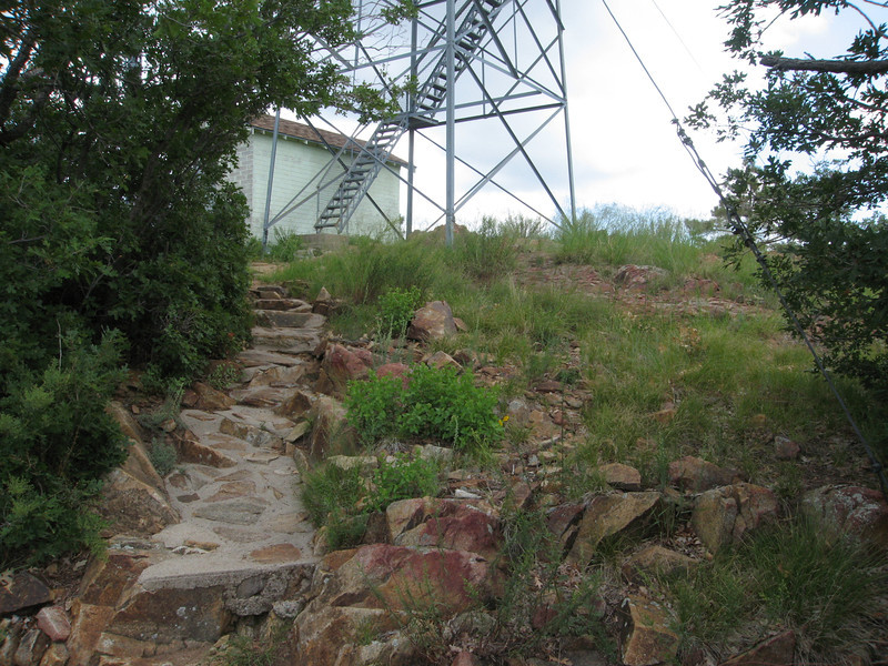 Steps to the lookout.