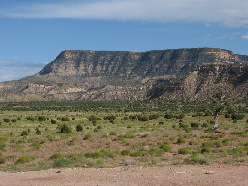 Black Mesa seen along Hwy160 west of Kayenta.  Photo taken July 2010.