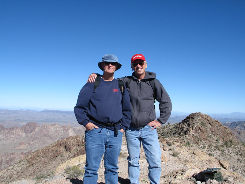Roger and Ron on the summit.
