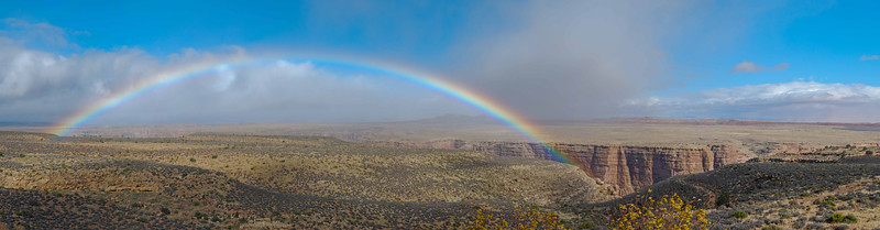 Rainbow over Grand Canyon