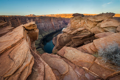 Horseshoe Bend Cliffs in Morning
