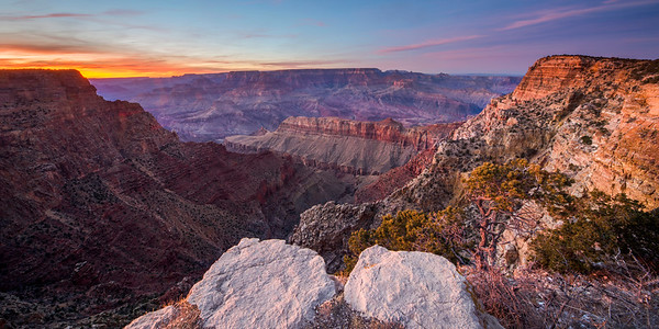 Grand Canyon National Park Late Winter Sunset