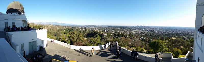 At the Griffith Observatory in Los Angeles