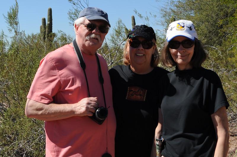 Mel and Judy and Carol at Desert Botanical Garden in Phoenix
