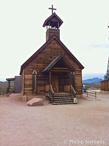 The church at Goldfield (ghost town)