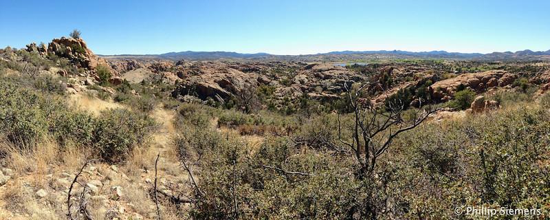 Panorama view of Willow Lake and Prescott