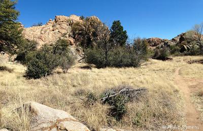 Granite Dells area near Willow Lake in Prescott, AZ. Wonder when the grass turns green?