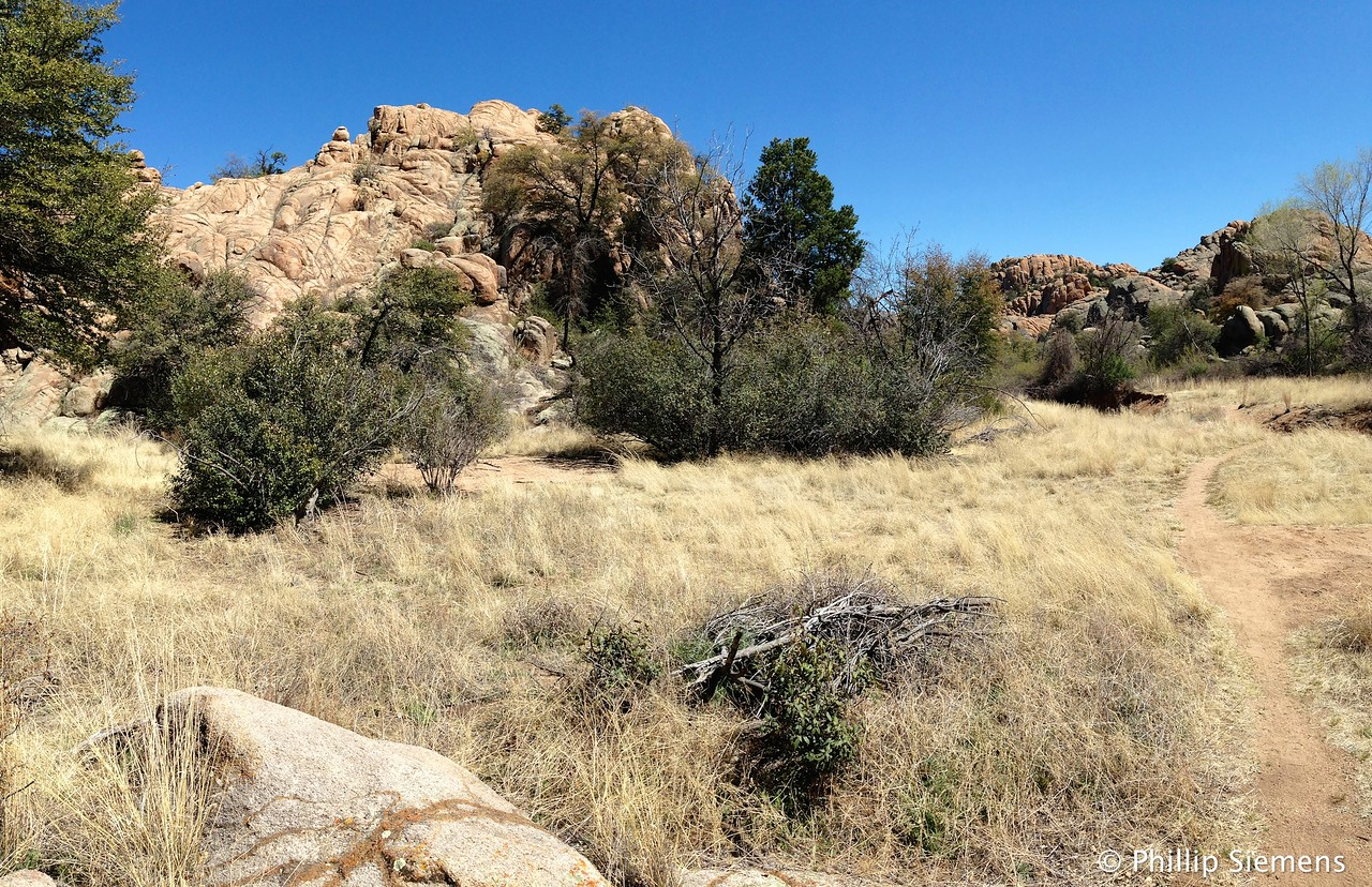 Granite Dells area near Willow Lake in Prescott, AZ. Wonder when the grass turns green?