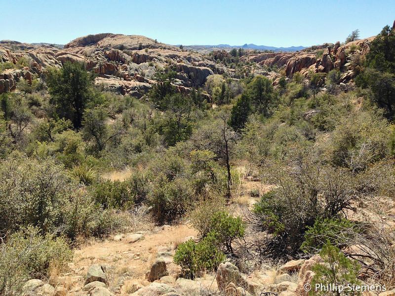 Jumbly rocks near Willow Lake in Prescott
