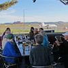 Happy Hour at the Sedona airport grill, watching planes and helicopters take off and land. Oh, and the view wasn't bad either.