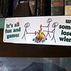 Sign in The Rendezvous Diner. Camper's humor.