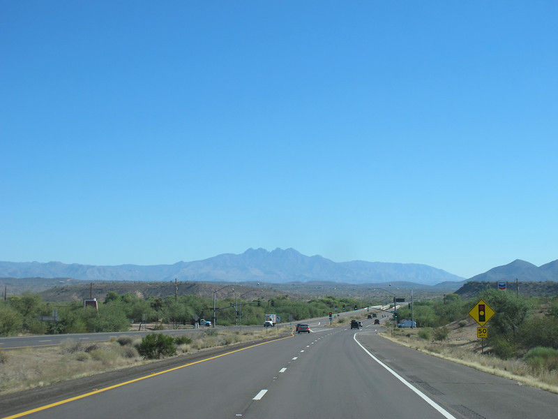 On my way to Payson with a view of Four Peaks.