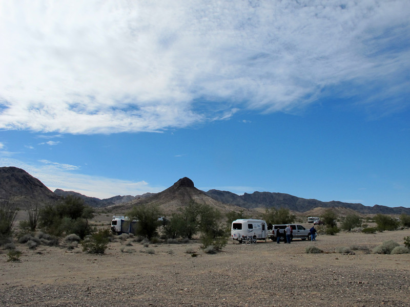Several others arrived the next day. The  BLM area namesake, Dome Rock, in the background.