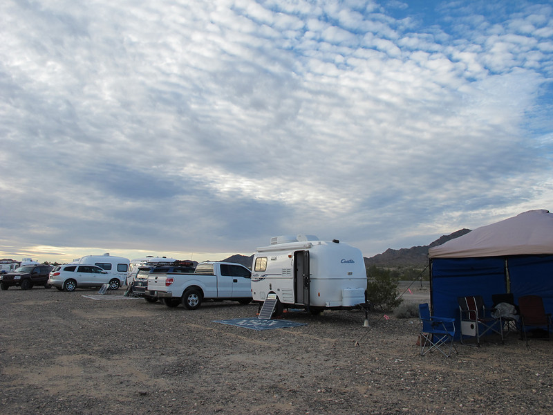My rig, now surrounded by friends and the Swap Meet tents.