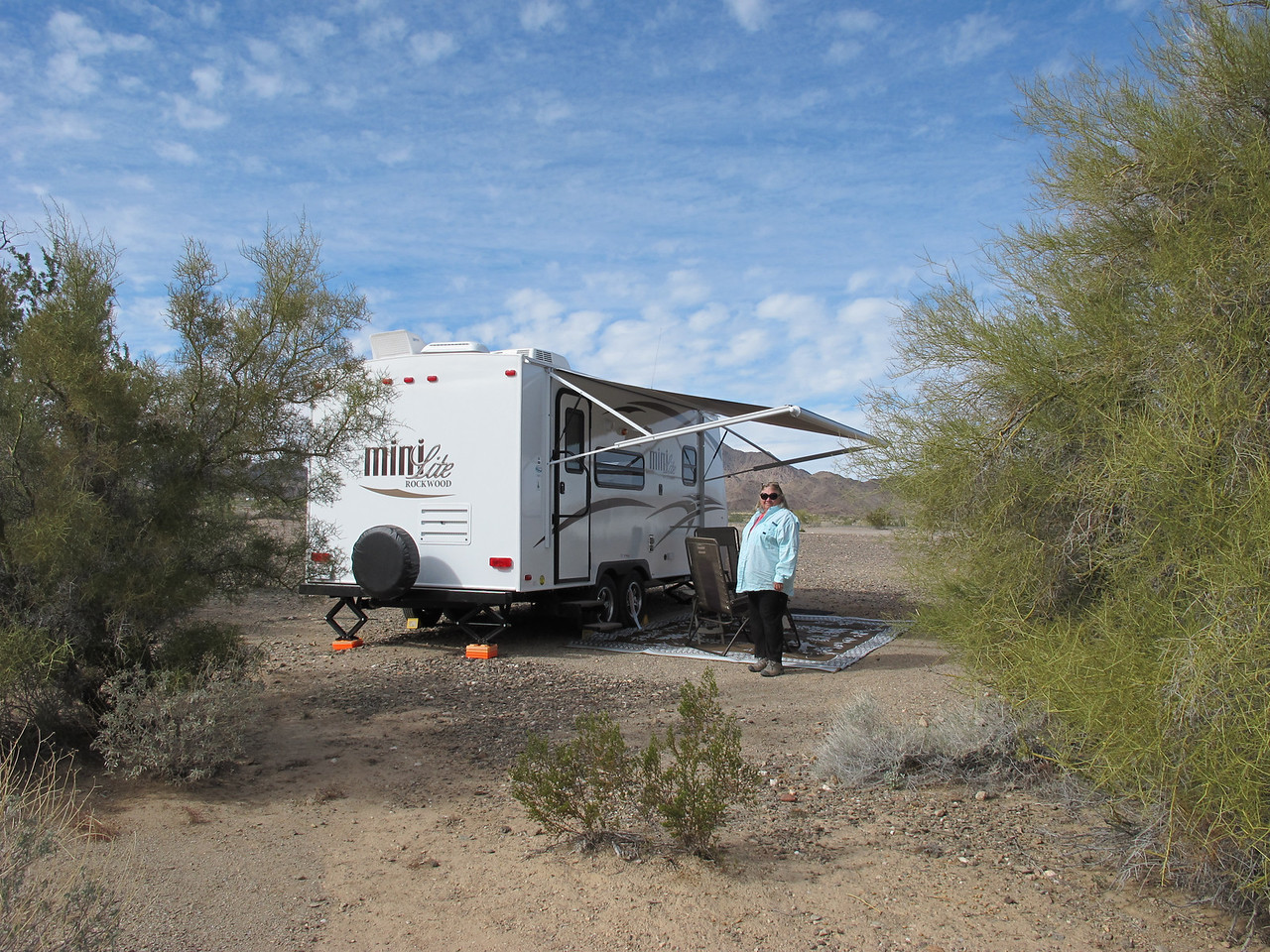 Casita owner, GrandJan, now travels in a Rockwood Mini Lite so she has more room when camping with her grandkids. Her Casita is back home in Louisiana.
