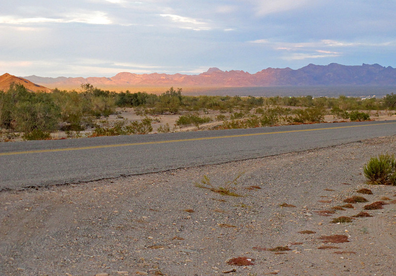 The sun sets over Quartzsite.