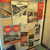 <center>A montage of system maps, brochures, and other early railroad artifacts on display at the Arizona Railway Museum.         </center>