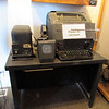 <center>A bit of communication gear from yesteryear, including an old teletype machine.          </center>
