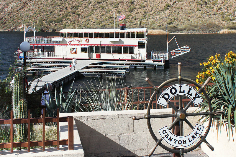 Built in 1983 and named for Dolly Kennedy, one of the boats original owners, the <b><i>Dolly Steamboat</i></b> is 103 feet long and 18.5 feed wide.