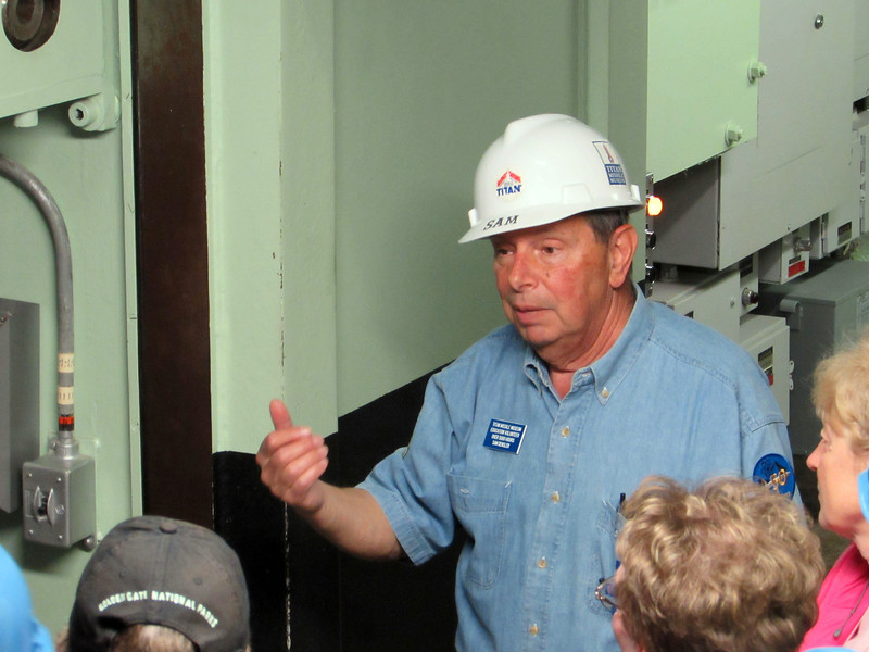 "Sam Densler has been at his job as a tour guide for a long time.  He has contributed more than 5,000 hours as an ""Education Volunteer"" at the missile site.<br /> <br /> His knowledge and good humor were essential ingredients in our successful tour!"