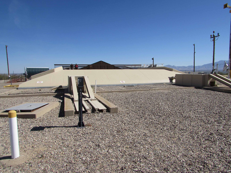 This preserved Titan II missile site, officially known as complex 571-7, is all that remains of the 54 Titan II missile sites that were on alert across the United States from 1963 to 1987.<br /> <br /> The Titan Missile Museum opened in 1986 and is the only publicly accessible Titan II Missile Complex in existence.   Its address is 1580 W. Duval Mine Rd., Sahuarita, Arizona.  Their phone number is (520) 625-7736.<br /> <br /> Geographic coordinates are:<br /> 31° 54' 12.90 N<br /> 110° 59' 56.47 W