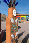 Artwork sculptures in the town of Ajo, Arizona, USA.