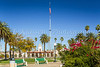 The village square park in Ajo, Arixona, USA.