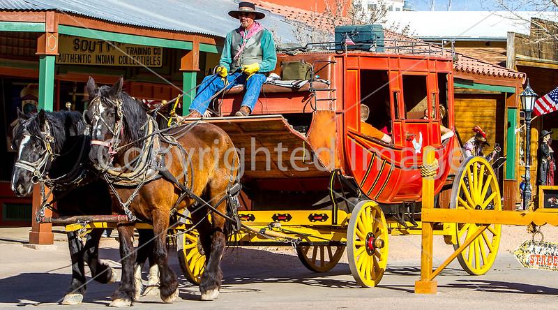 Stagecoach on Allen Street in Tombstone, Arizona - D3-C1-0365 - 72 ppi