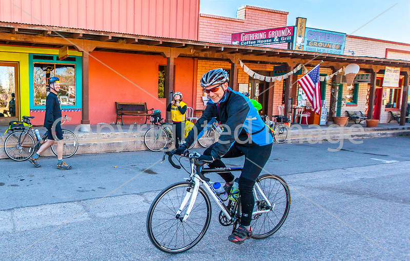 ACA - Cyclists outside Gathering Grounds Coffeehouse, Patagonia, AZ - D3-C2-0042 - 72 ppi