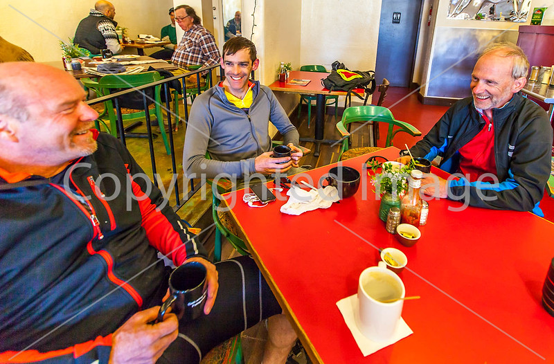 ACA - Cyclists in Gathering Grounds Coffeehouse, Patagonia, AZ - D3-C2-0022 - 72 ppi