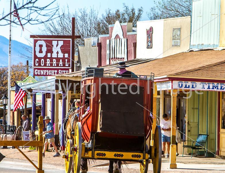 Stagecoach on Allen Street in Tombstone, Arizona - D3-C1-0236 - 72 ppi