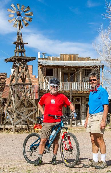 ACA -  Cyclists in Tombstone, Arizona - D3-C3#1-0423 - 72 ppi