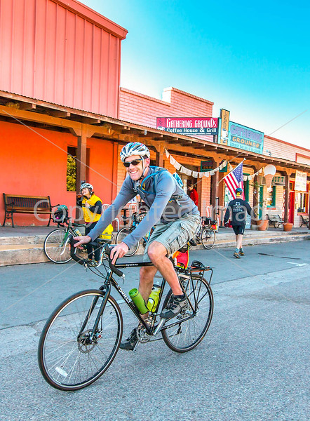 ACA - Cyclists outside Gathering Grounds Coffeehouse, Patagonia, AZ - D3-C2-2 - 72 ppi-3