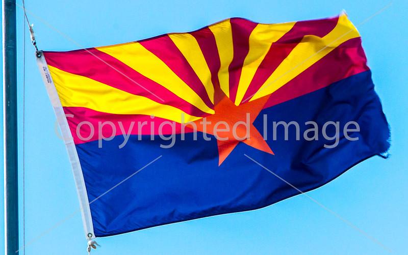 Arizona state flag - D3-C1-0440 - 72 ppi