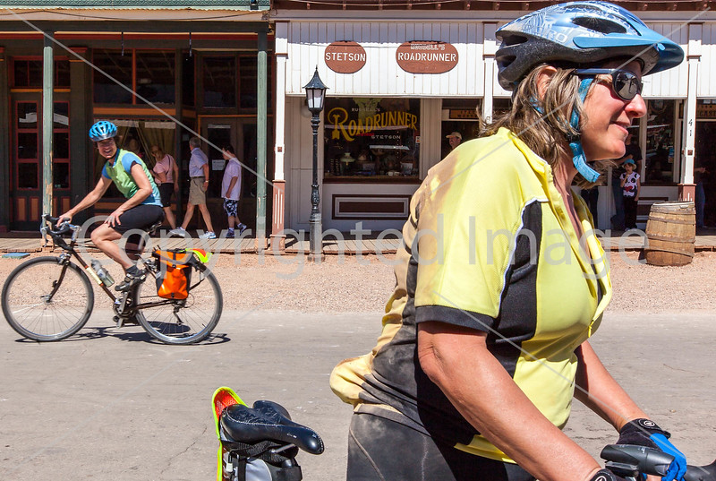 ACA - Cyclist on Allen Street in Tombstone, Arizona - D6-C2-0146 - 72 ppi-2