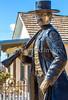 Wyatt Earp statue at his home in Tombstone, Arizona - D6-C3-0566 - 72 ppi