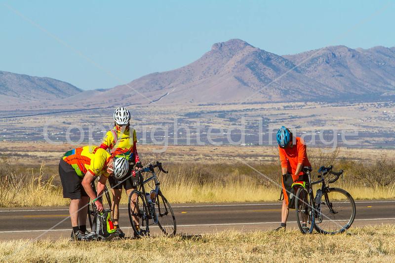 ACA - Riders southwest of Bisbee, Arizona, on US 92 - D6-C1-0159 - 72 ppi