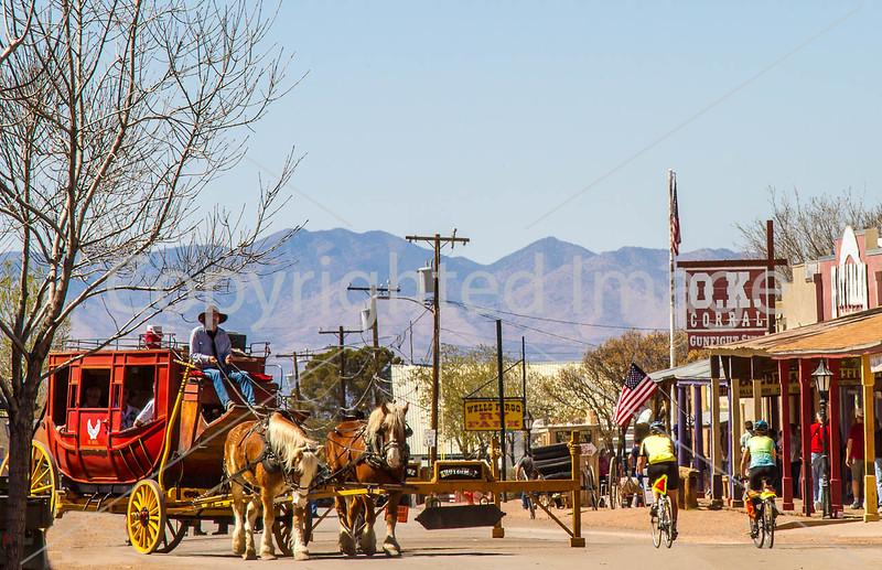 ACA - Cyclist(s) on Allen Street in Tombstone, Arizona - D6-C3- - 72 ppi