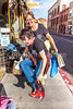ACA - Cyclists test cowboy boots in downtown Bisbee, Arizona - D5-C2-0340 - 72 ppi