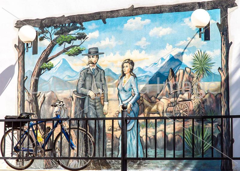 Murals at motel in Tombstone, Arizona - D6-C3-0570 - 72 ppi